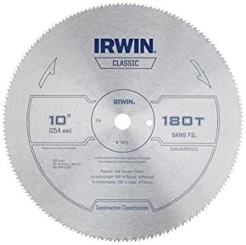 IRWIN Tools Classic Series Steel Table / Miter Circular Saw Blade