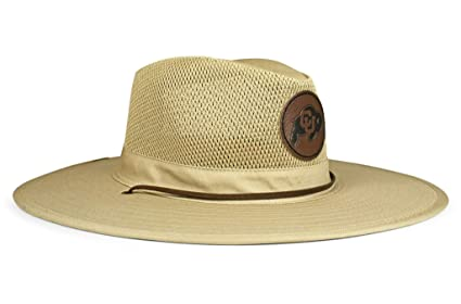 super popular 585f5 6ffa9 Amazon.com   Cowbucker NCAA Colorado Buffaloes Unisex NCAA Crushable Mesh  Safari Sun Hatncaa Crushable Safari Hat, Mesh Wide Brim Sun Hat   Officially  ...