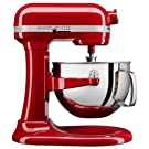 KitchenAid 6-Qt. Bowl-Lift Stand Mixer with Wire Whip, Flat Beater, and Spiral Dough Hook - Empire Red