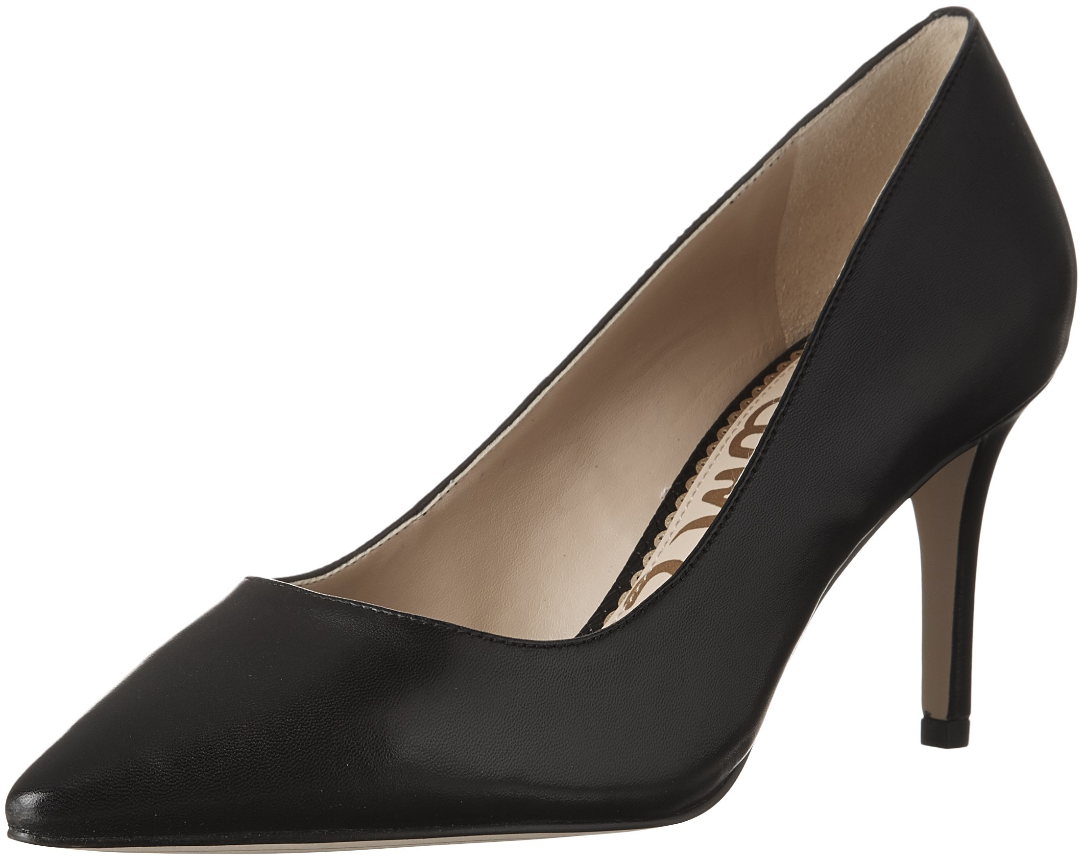 Sam Edelman Women's Tristan Pump, Black Leather, 6 Medium US by Sam Edelman