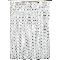 AmazonBasics Printed Fabric Shower Curtain, Natural Herringbone
