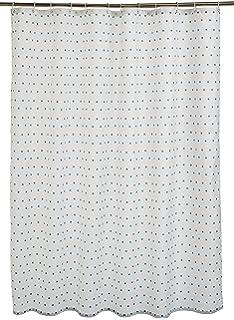 Zethome Cortina de Ba/ño Azul Estampado Elegante Original Antimoho Impermeable Lavable Antibacteriana Poliester Tela con Anillas de Cortina Ducha Estiloso Bano Moderno 180x200 cm