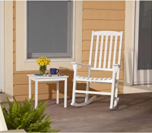 Mainstay Outdoor Rocking Chair (White)