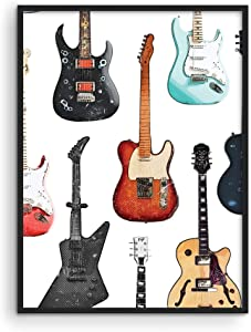 Vintage Music Posters 90s Guitar - By Haus and Hues | 90s Room Decor Indie Posters Vintage Decor for Bedroom 80s Room Decor Retro Music Decor Posters for Room UNFRAMED 12