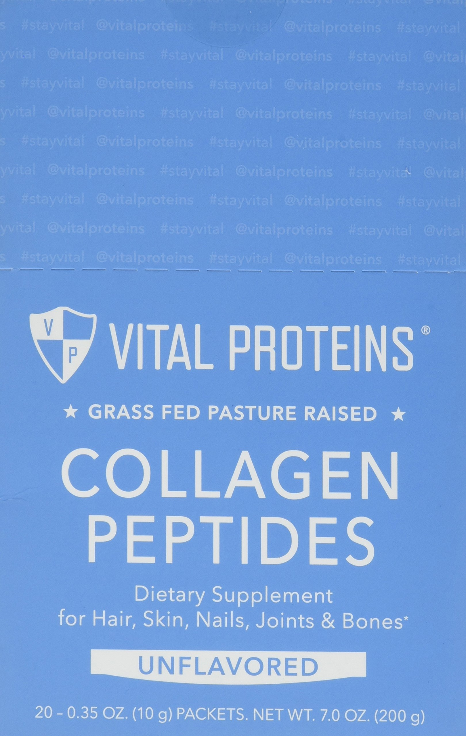 Vital Proteins Pasture-Raised, Grass-Fed Collagen Peptides (Stick Packs) (10g, 20 ct per box)