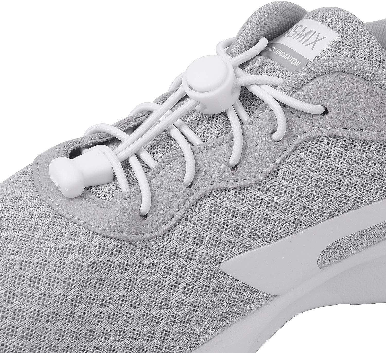 KATELUO cordones zapatillas,Cordones elásticos sin nudos para zapatillas,para Maratón y Triatlón Atletas,Corredores,Niños, Ancianos,Discapacitado (Blanco): Amazon.es: Zapatos y complementos