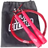 KTCPRO speed jump rope for Crossfit, Boxing, MMA, Fitness, Cardio High speed double unders - For more effective training & healthy body -With metal connection, adjustable+ KTCPRO draw string bag