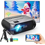 Bomaker Wi-Fi Mini Projector, 150 ANSI Lumen, Native 1280x720P Portable Projector, Full HD 1080P Supported Outdoor Projector,