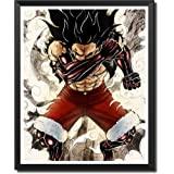 Yansang Anime ONE PIECE Monkey D. Luffy Haoushoku Haki Bathroom Decor Wall Decor Home Decor Canvas Print Poster,Unframed…