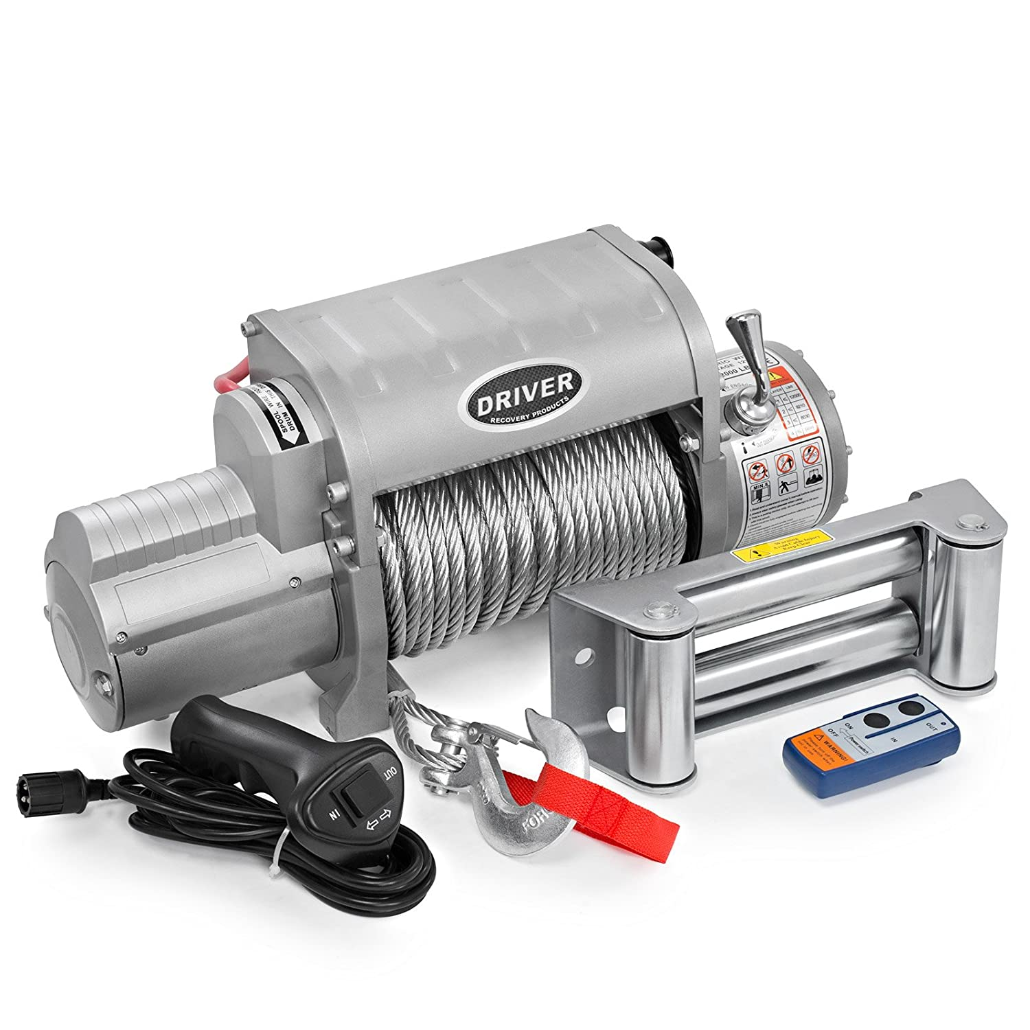 Amazon.com: LD12-ELITE Electric Heavy Duty Recovery Winch - 12,000 lbs.  Capacity - Wireless Remote Control - by Driver Recovery Products: Automotive