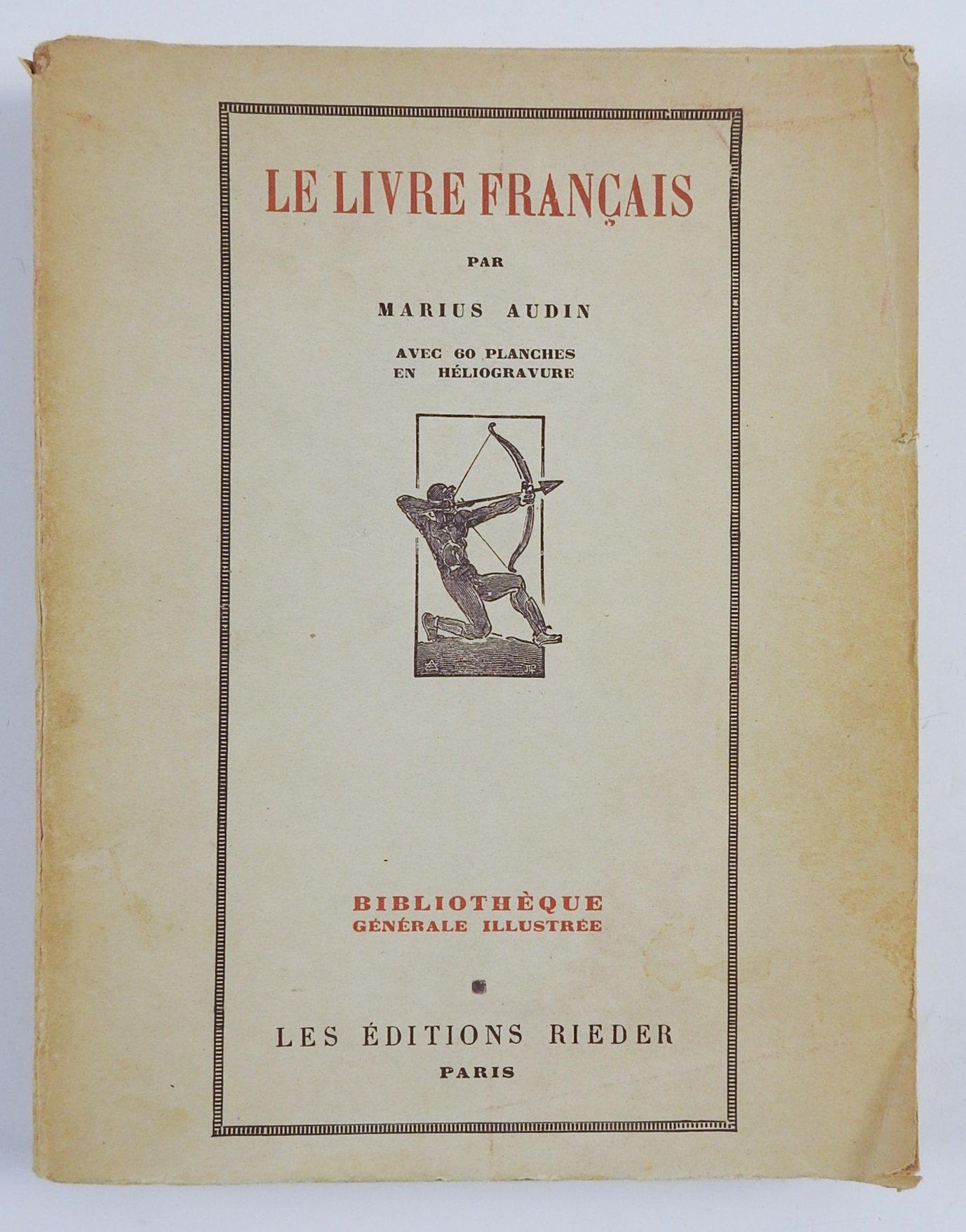 Le Livre Francais On Illustration Marius Audin Amazon Com