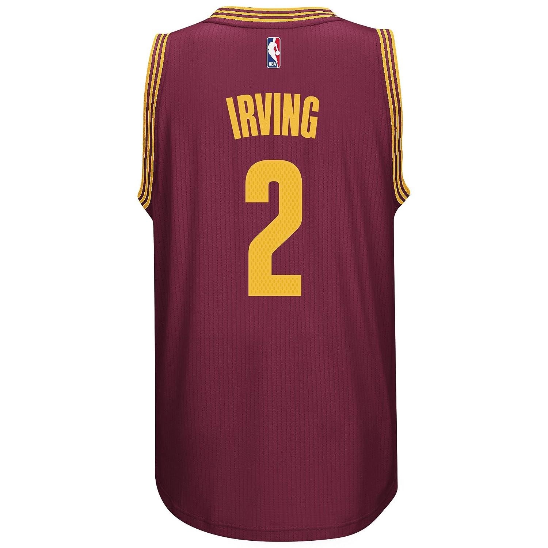e05bb1d86d85 Amazon.com   adidas Kyrie Irving Men s Maroon Cleveland Cavaliers Swingman  Jersey   Sports   Outdoors