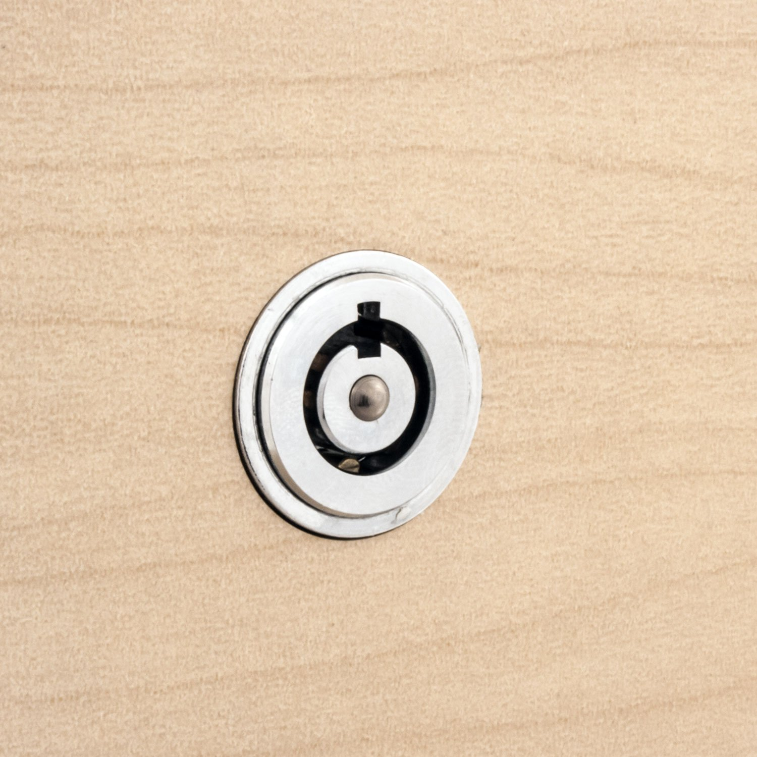 FJM Security 2612L-KD Push Lock with Chrome Finish Keyed Different