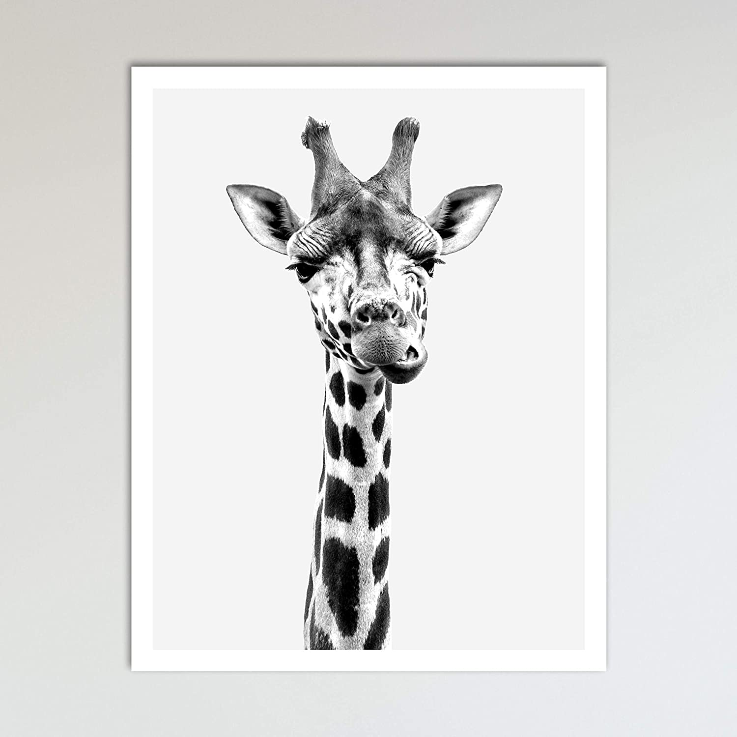 - Amazon.com: Giraffe Zoo Animal Nursery Print - Animal Prints