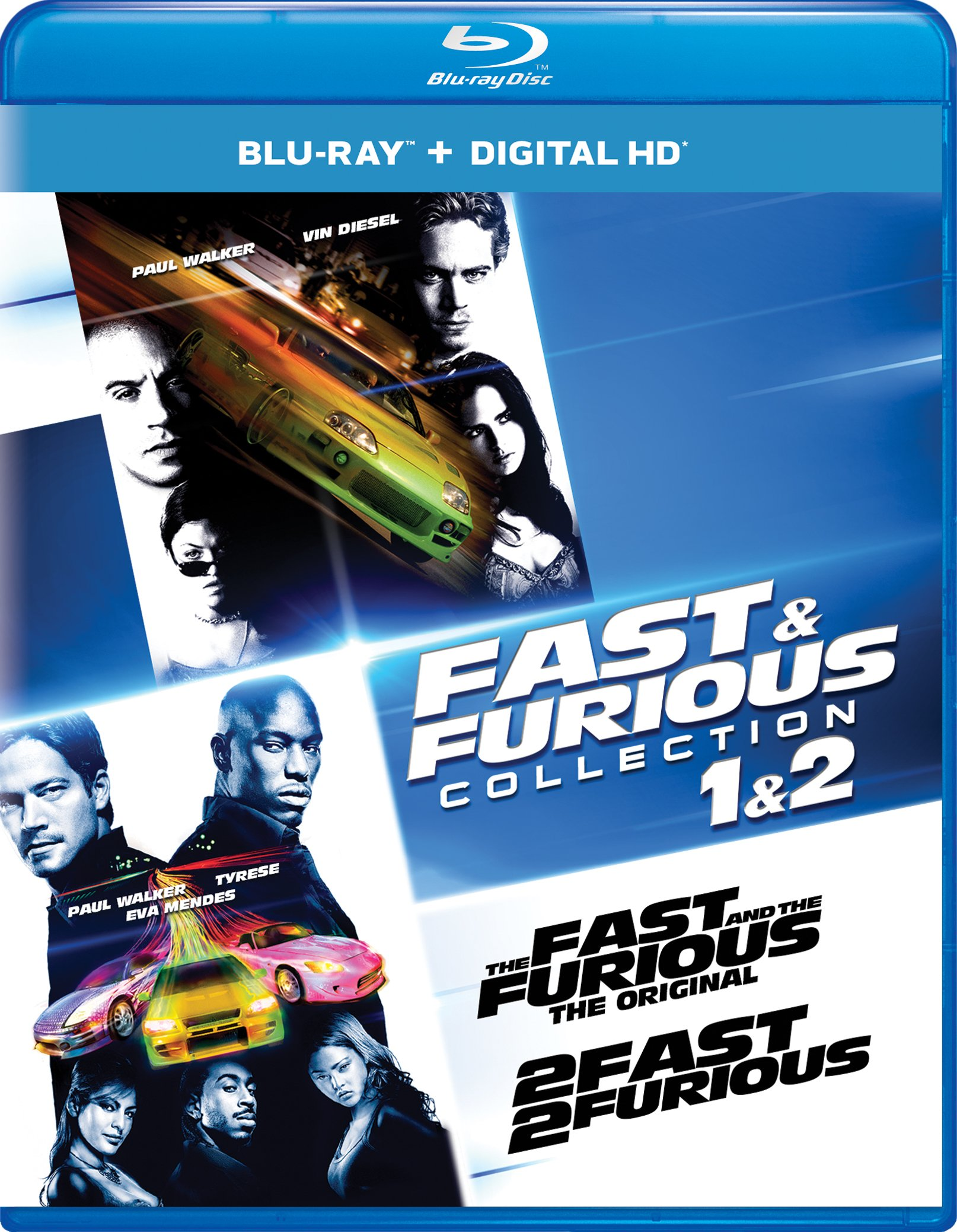Blu-ray : Fast & Furious Collection: 1 & 2 (Ultraviolet Digital Copy, Snap Case, Digital Copy, Digitally Mastered in HD, 2 Pack)