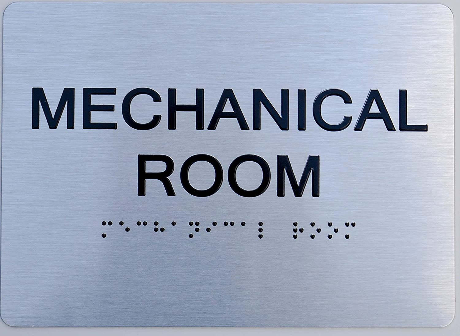 Mechanical Room ADA Sign -(Aluminium, Brush Silver,Size 5X7) The Sensation line