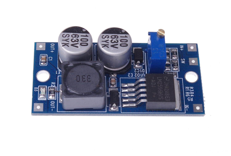 Smakn Dc Lm2596hv Buck Converter 5v 60v To 125v 26v Electronics Technology 5vdc 12vdc Lt1070 Boost Circuit Power Module 48v 3v 12v Home Audio Theater