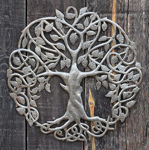 Celtic Inspired Tree of Life, Metal Wall Art, Home Decor Fair Trade ...