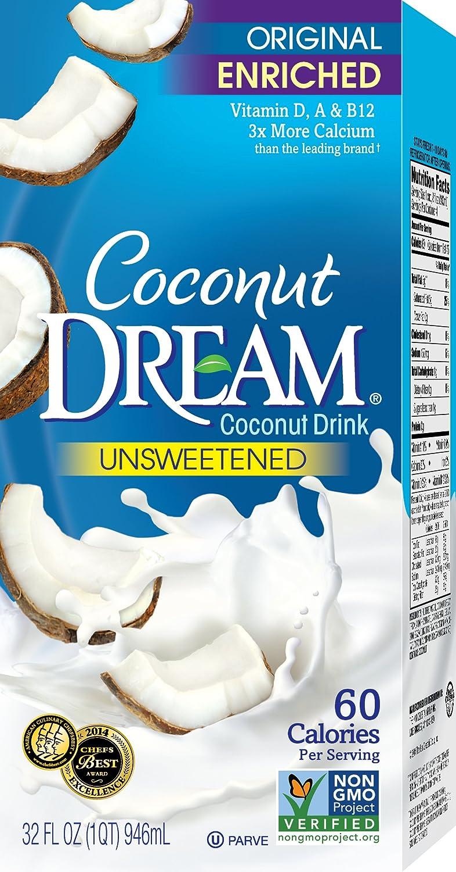 Amazon.com : COCONUT DREAM Enriched Original Unsweetened Coconut ...