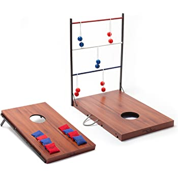 Amazon Com Lifetime Heavy Duty Cornhole Ladderball Game
