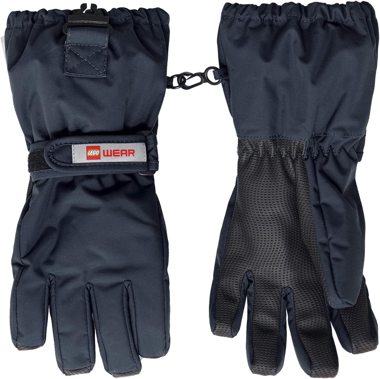 5-6yrs LEGO Wear Kids Snow Gloves With Anti-slip Grip /& Membrane Dark Grey