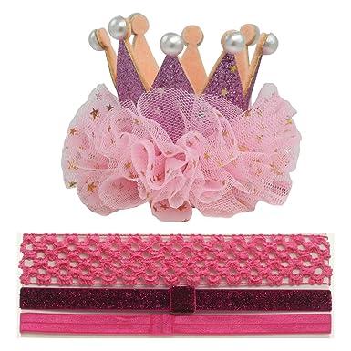 Amazon.com: Clips para el pelo de princesa de cumpleaños ...