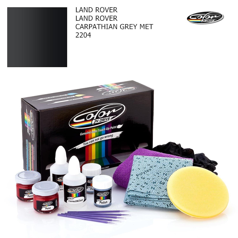 LAND ROVER LAND ROVER / CARPATHIAN GREY MET - 2204 / COLOR N DRIVE AUSBESSERUNGSLACK SET FÜ R KRATZER UND STEINSCHLAGSPUREN AN IHREM AUTO / BASIC PACK