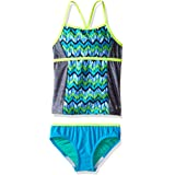 Speedo Girls Digi Zig Zag Heather Two Piece Tankini Set