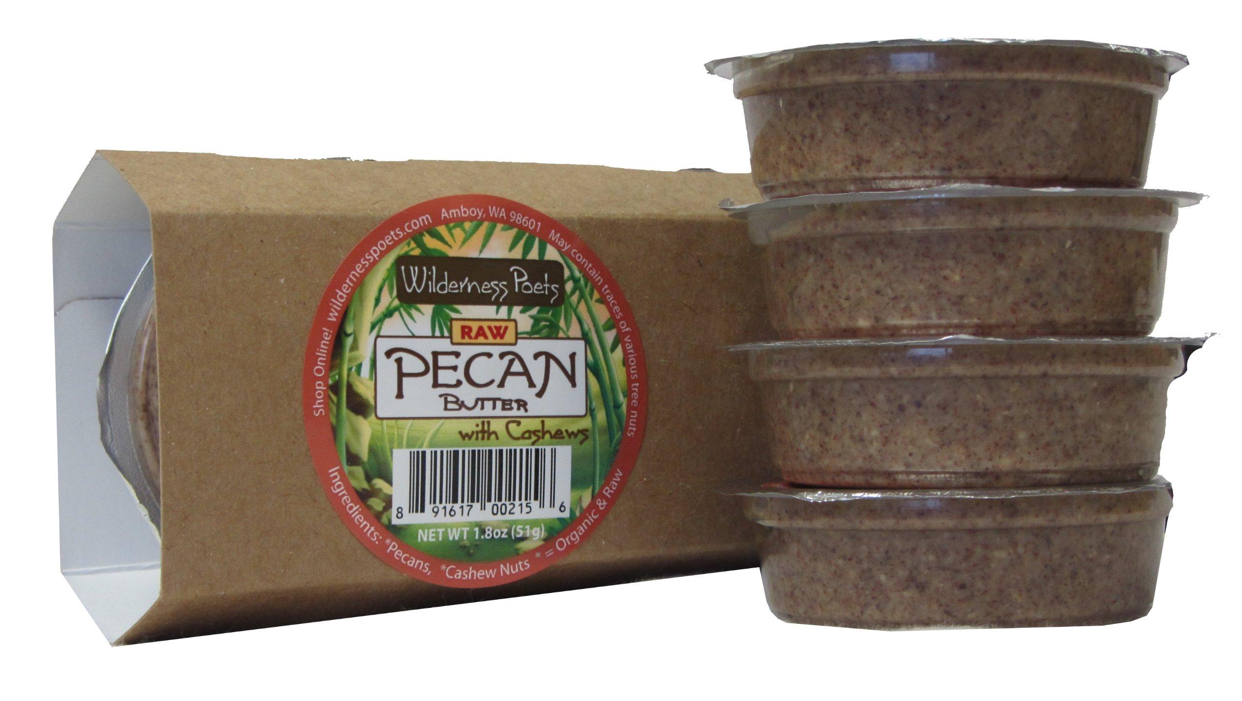 Wilderness Poets Pecan Butter Snackers - Organic & Raw (4 X 1.8 Oz Cups)