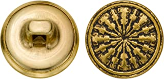 product image for C&C Metal Products 5204 Modern Metal Button, Size 24 Ligne, Antique Gold, 72-Pack