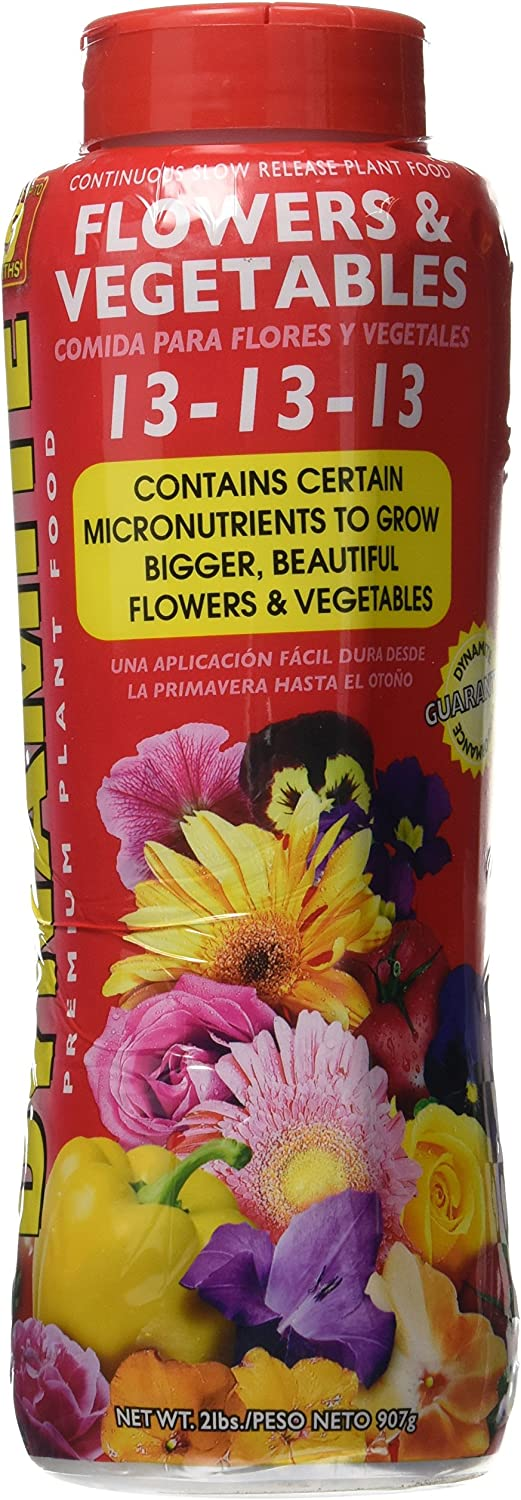 Dynamite 887746 Flowers and Vegetables Plant Food, 2-Pound