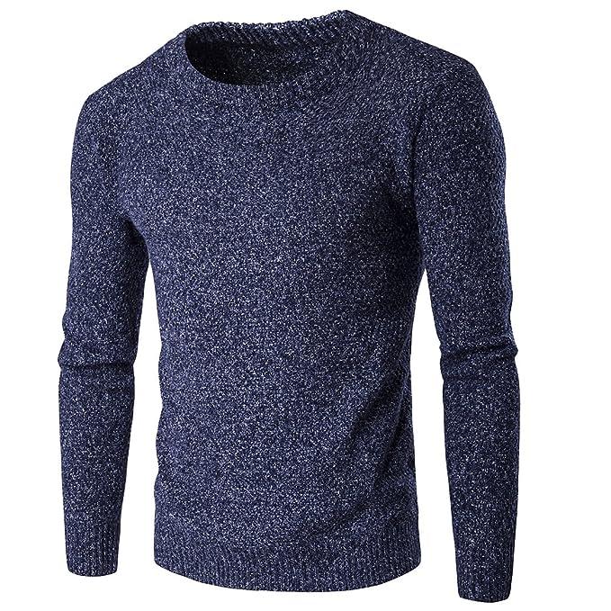 2 opinioni per ZhuiKun Uomo Maglione Girocollo Spessore Sweatshirt Pullover a Maglia