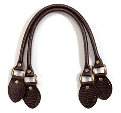 750807385 Amazon.com: byhands Embossed Genuine Leather Purse Handles / Bag Strap,  Brown, 18.9
