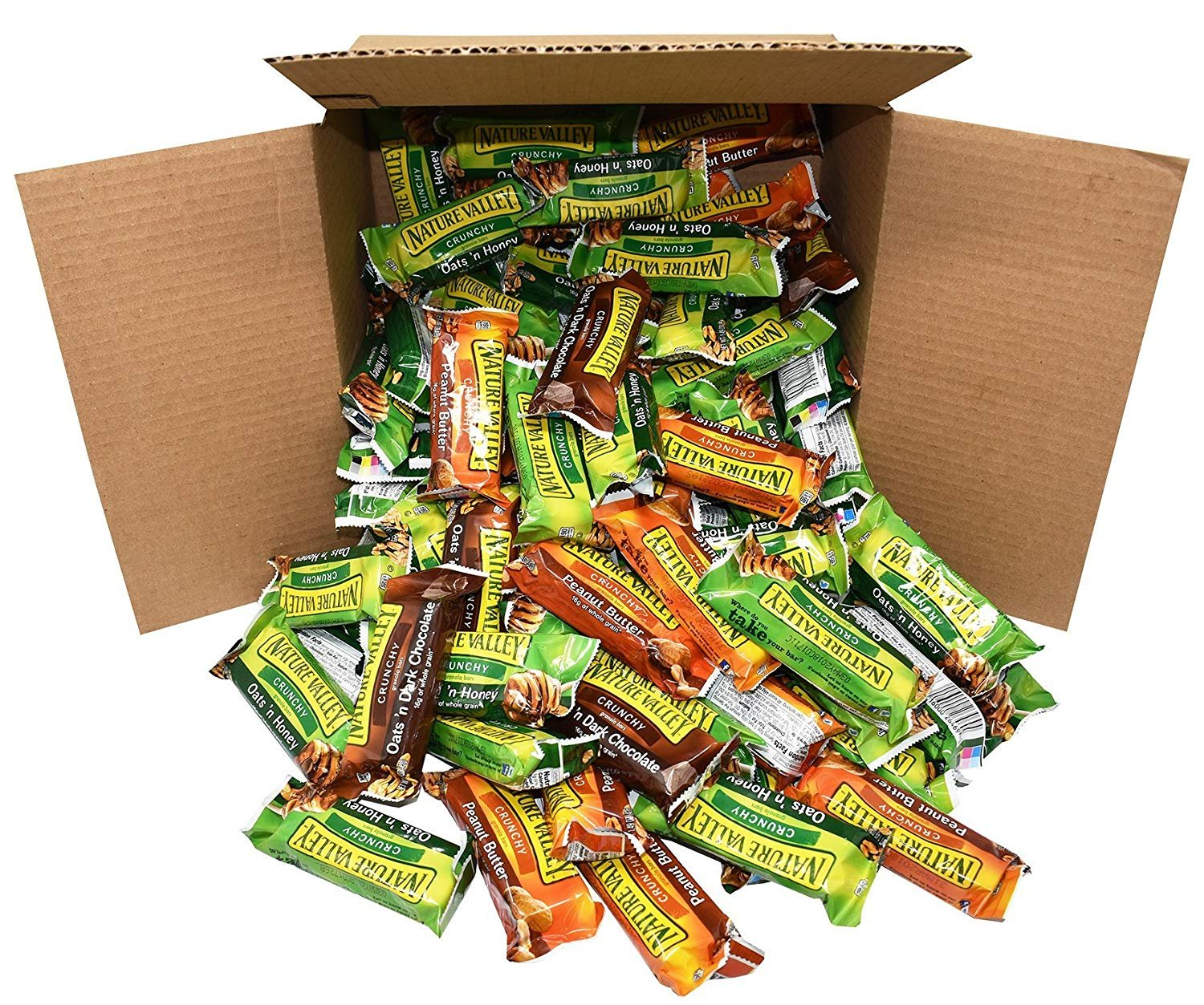 LUV BOX Nature Valley Bars Bulk Variety Pack (120 2-Packs) - Office Snacks, School Lunches, Meetings