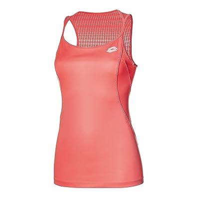 Lotto Nixia II Tank+Bra W - Camiseta con Sujetador Integrado para Mujer, Color Rosa, Talla M: Amazon.es: Zapatos y complementos