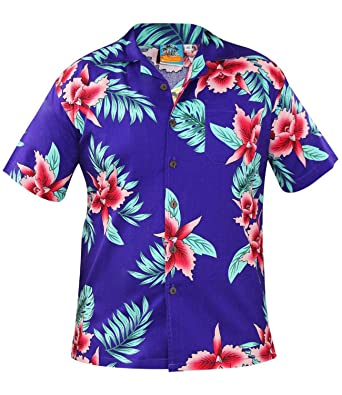ce7cd1fc True Face Funky Hawaiian Shirt Men Short-Sleeve Hawaiian-Print Big Flower  Summer Multiple Colours Parrot Printed-Shirts: Amazon.co.uk: Clothing