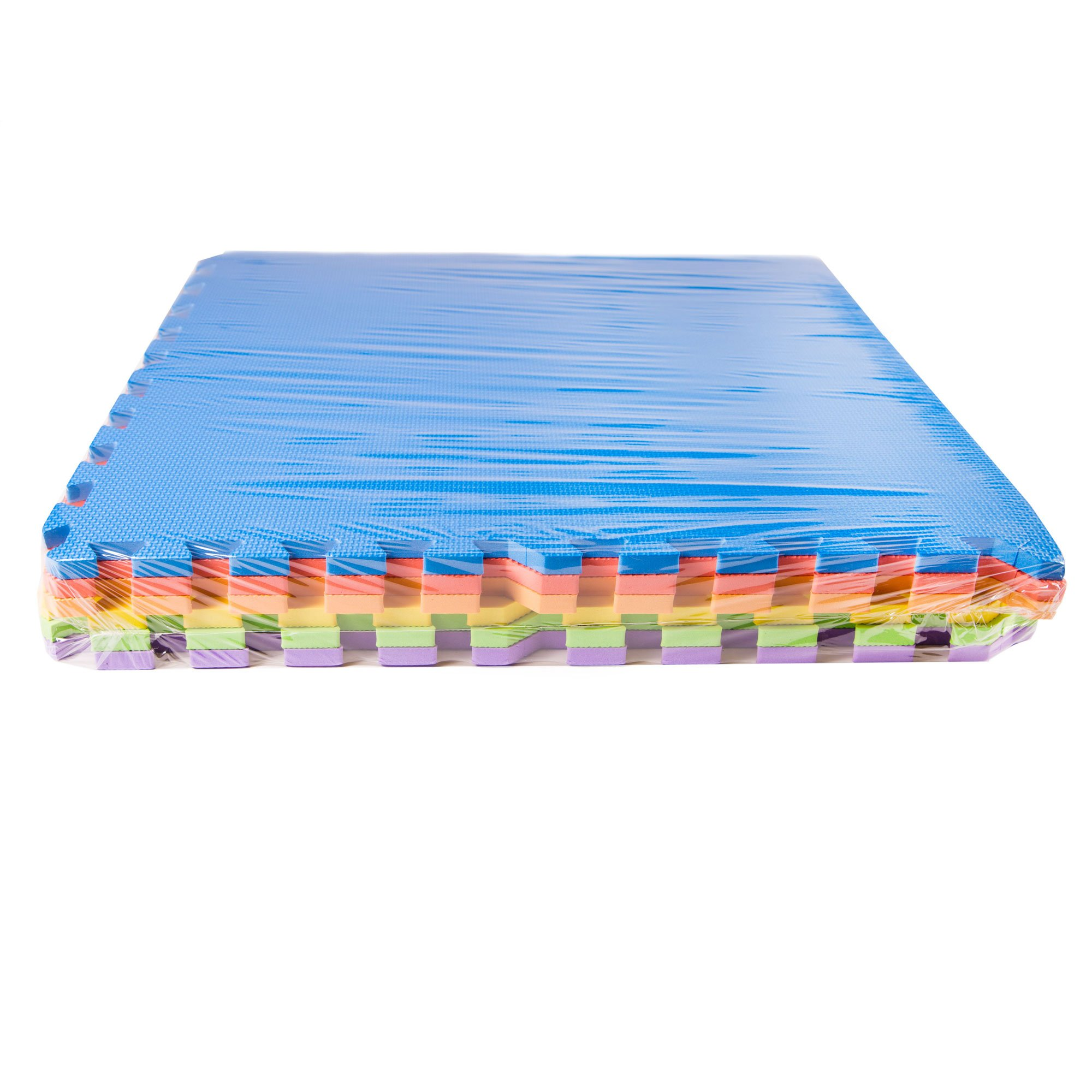 IncStores - Rainbow Foam Tiles (12 Pack) - 2ft x 2ft Interlocking Foam Children's Portable Playmats by IncStores (Image #2)