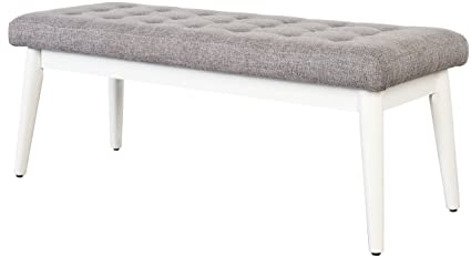 Fantastic Crosley Furniture Cf6019 Wh Landon Upholstered Bench White Cjindustries Chair Design For Home Cjindustriesco