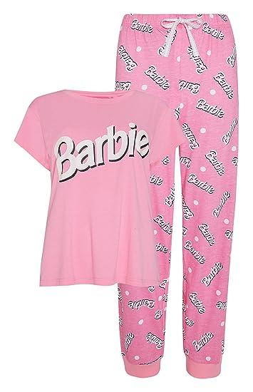 Juego de Pijamas Pijamas para Mujer Barbie Ladies Girls, para Mujer UK Small 6-