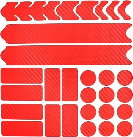 Película Protectora de 28 Piezas para el Cuadro de la Bicicleta Pegatina Protección MTB BMX Cadena Película de protección de Pintura K099 K100: Amazon.es: Deportes y aire libre