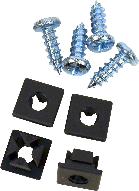 Custom Accessories 93342 Black Nylon License Plate Fastener