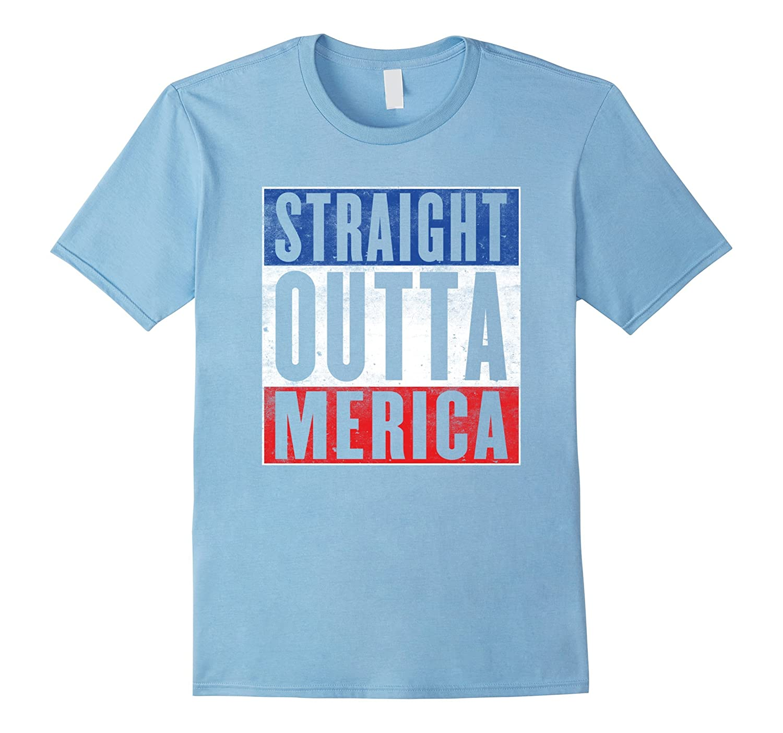 65e88901 Mens Straight Outta Merica – 4th Of July T-Shirt 2016-RT – Rateeshirt