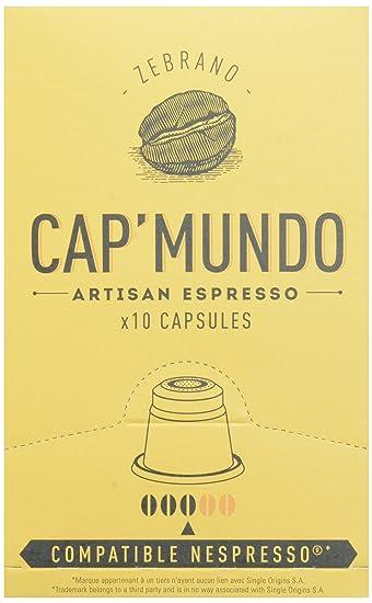 Cap Mundo Single-Cup Coffee for Nespresso Brewers, Zebrano, 10 Count