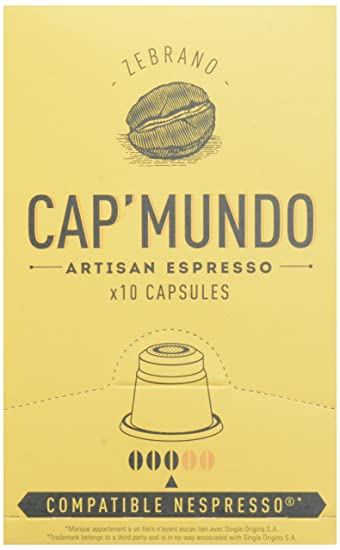 Amazon.com: Cap Mundo Single-Cup Coffee for Nespresso Brewers, Zebrano, 10 Count: Prime Pantry