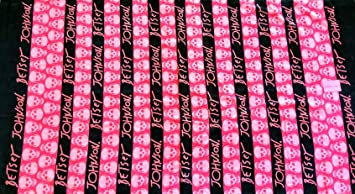 """Betsey Johnson calavera parte toalla de playa 100% algodón negro y rosa 35 """""""