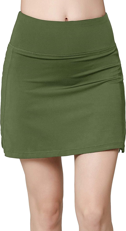 Women's Active Athletic Skirt Sports Golf Tennis Running Pockets Skort: Clothing