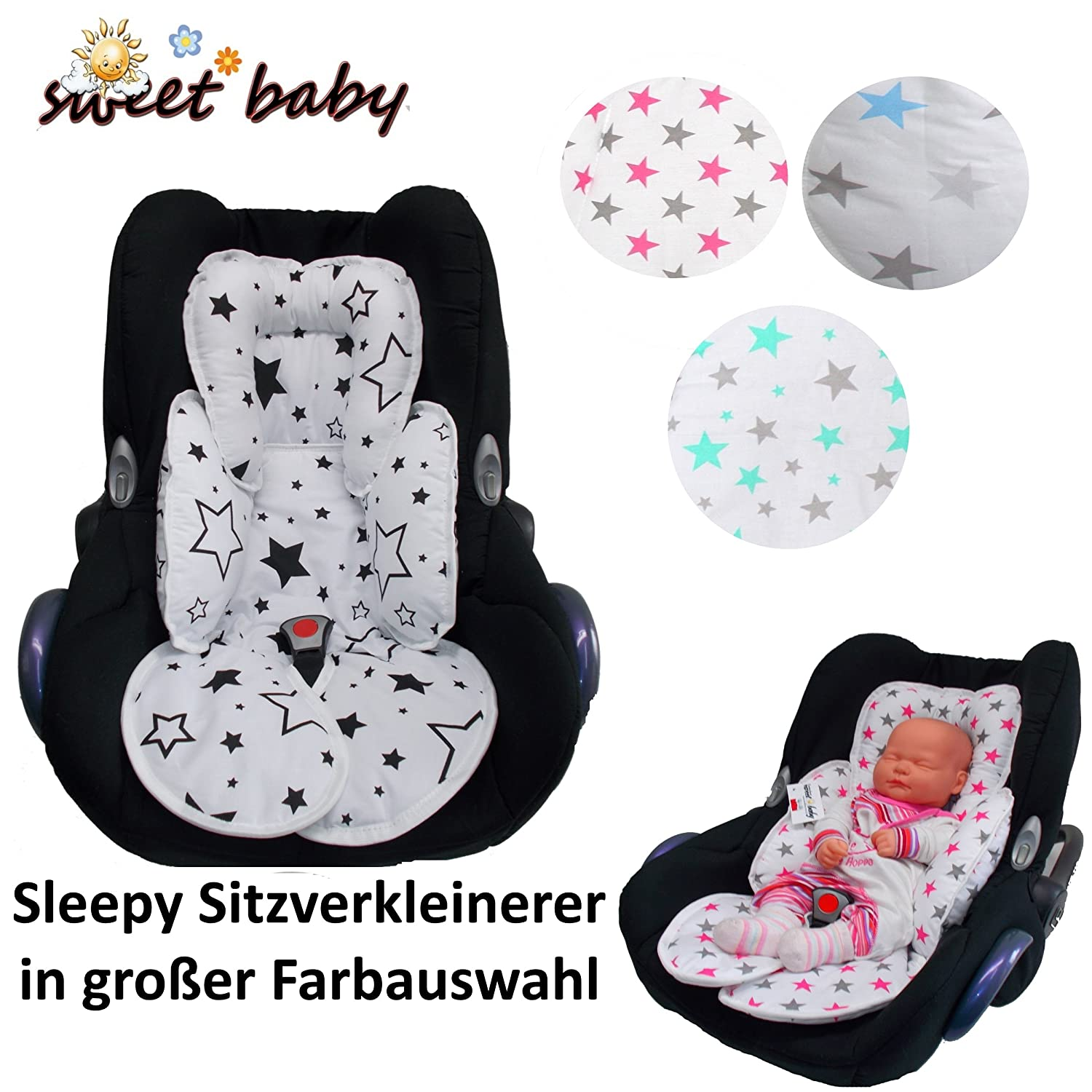 Sweet Baby * * Sleepy Car Seat Reducer/Newborn Antial Lergikum * * Suitable for Baby Size 0/0+ and 1* * Perfect for Maxi COSI/Cybex etc. as Well as Pram, Cot, etc.