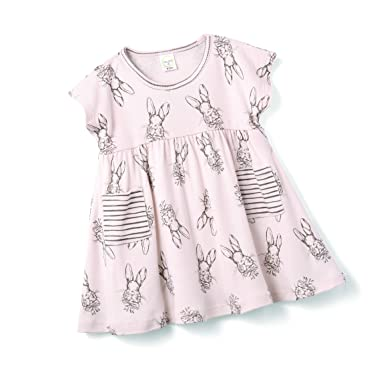 e2732c2a4 Tesa Babe Easter Bunny Dress, Newborn & Infant Girls Cotton Dress, Pink (3