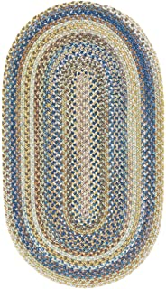 "product image for Capel Rugs Kill Devil Hill Oval Braided Area Rug, 1 x 2"", Light Blue"
