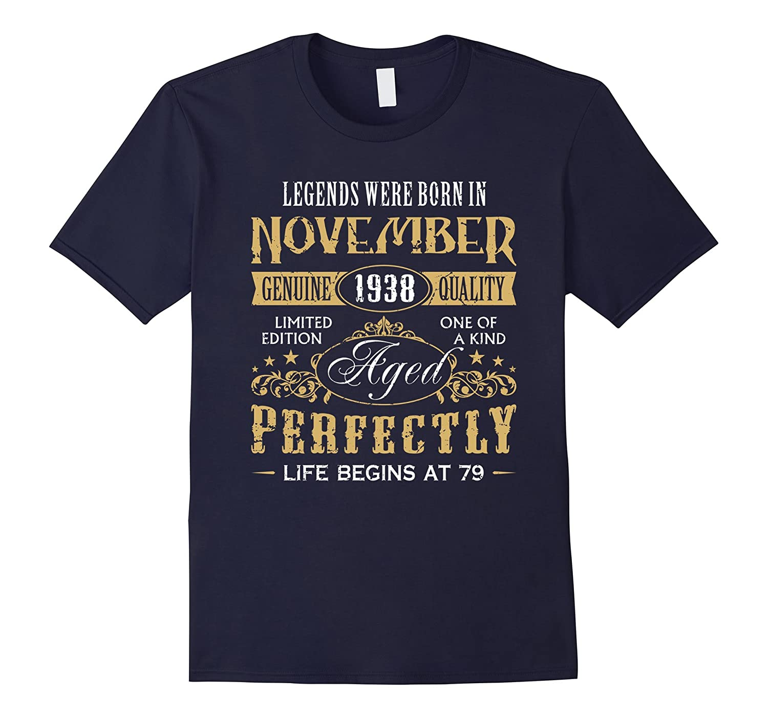 Born in 1938 Vintage 79th Birthday 79 Years Old Apparel Gift-FL
